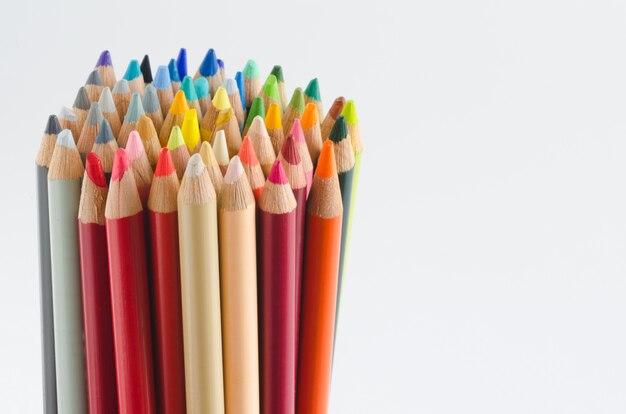 Groep kleurpotloden, tips.