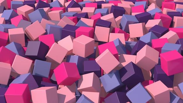 Groep kleurrijke kubussen. de abstracte 3d illustratie, geeft terug.