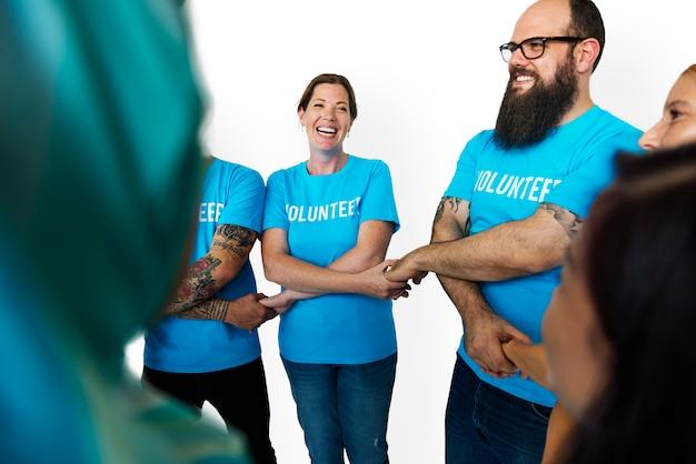Groep mensen vrijwilligersconcept