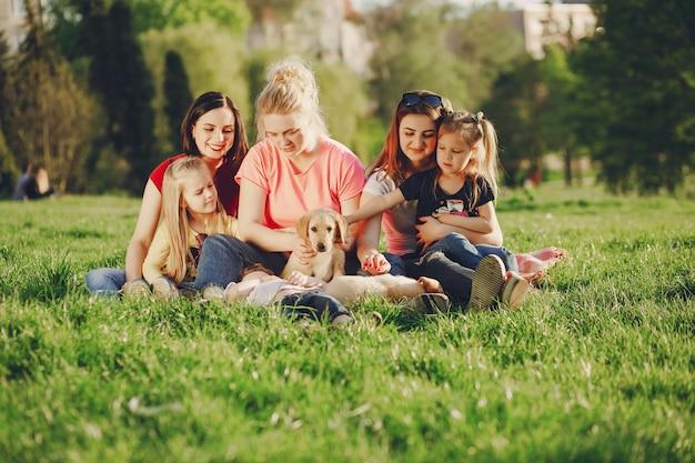 Groep met honden
