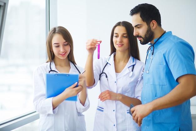 Groep van beoefenaars van het medisch centrum