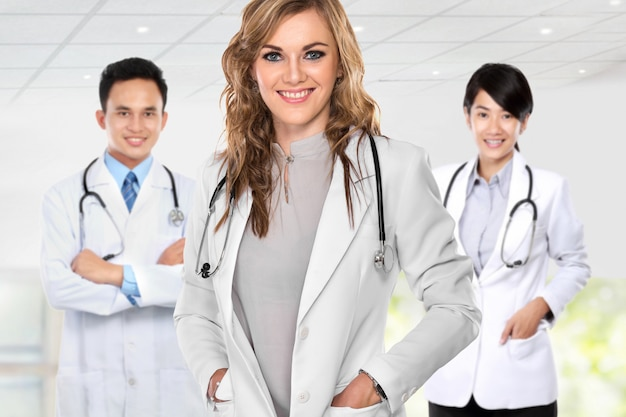 Groep van medische hulpverleners