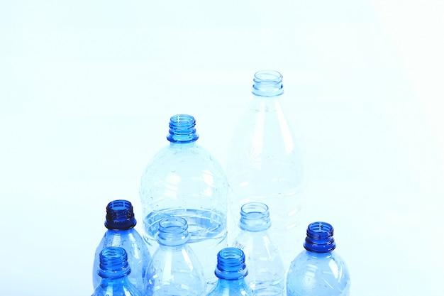 Groep van plastic flessen