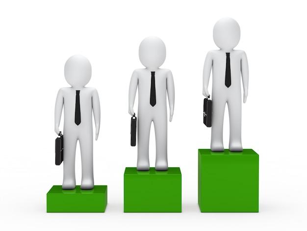 Groep van succesvolle werknemers