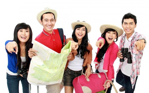 Groepen toeristen