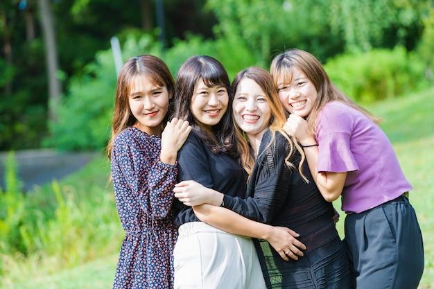 Groepsfoto van japanse meisjes