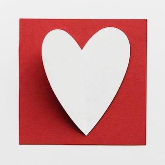 Groet met hartvorm