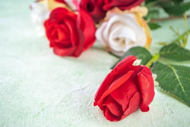 Groeten kaart achtergrond met rozen