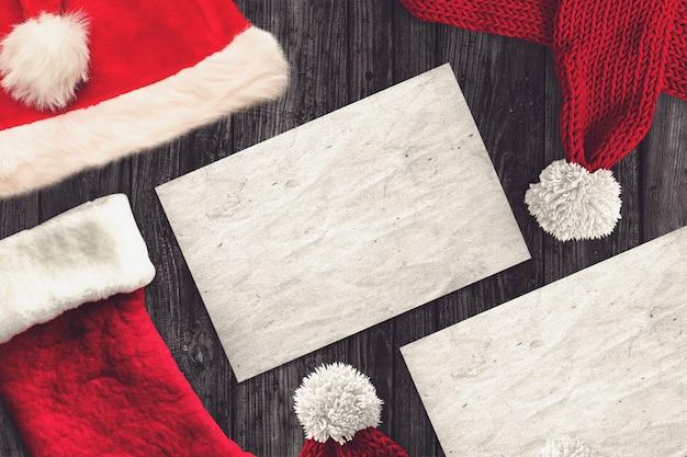 Groetkaart in een kerstmisscène