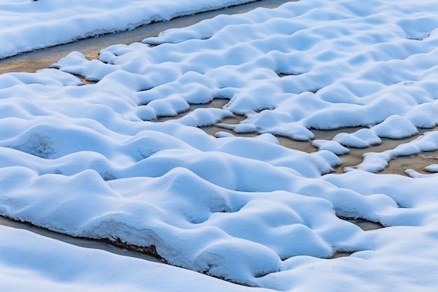 Grond bedekt met sneeuw