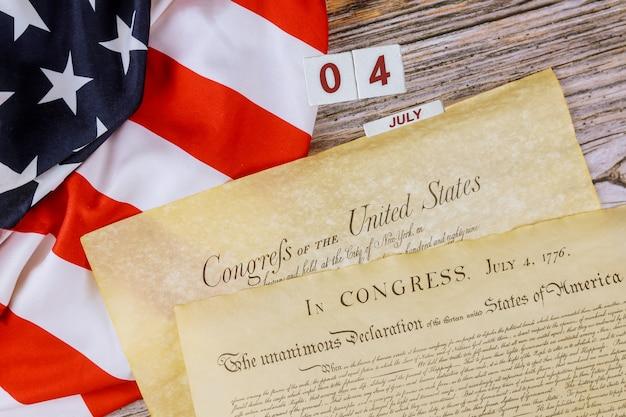 Grondwet van de verenigde staten van amerika eerste van vier pagina's van het nationaal archief