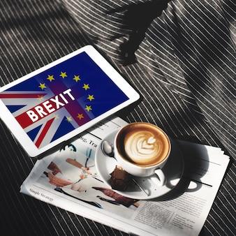 Groot-brittannië eu brexit referendum concept