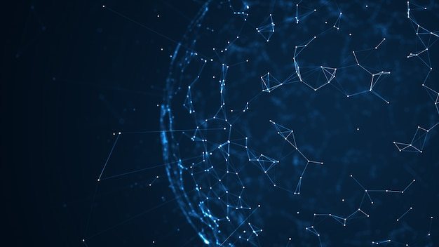 Groot datanetwerk en iot-conceptenachtergrond