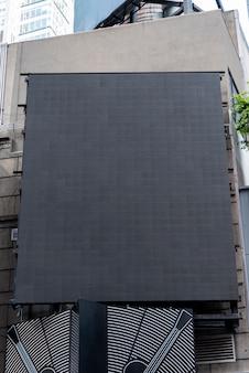 Groot modelaanplakbord in stad scape