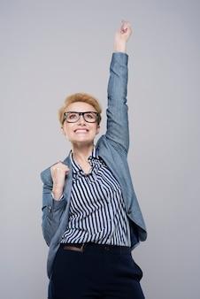 Groot succes van jonge zakenvrouw