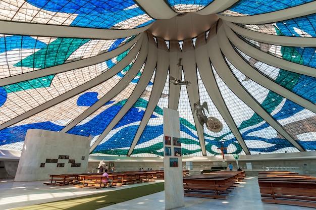 Grootstedelijke kathedraal brasilia df brazilië op 14 augustus 2008 door architect oscar niemeyer