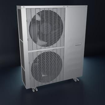 Grote airconditioner voor buiten 3d