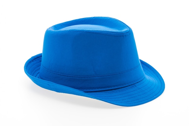 Grote blauwe hoed