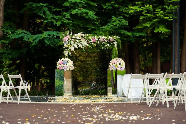 Grote bruiloft boog