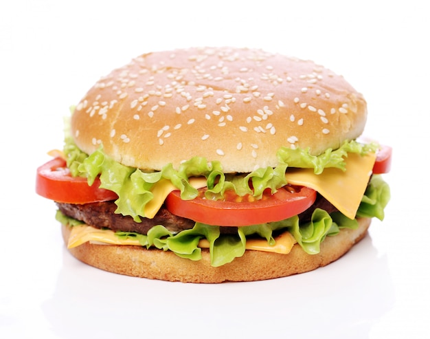 Grote en smakelijke hamburger