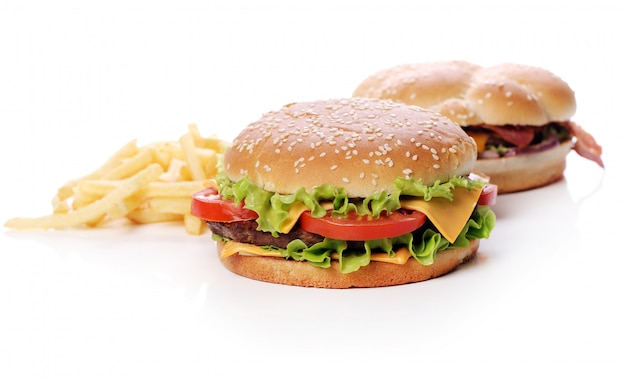 Grote en smakelijke hamburgers