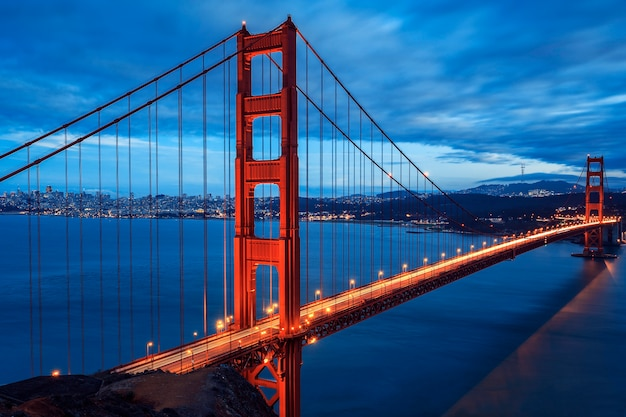 Grote golden gate bridge, san francisco, californië, verenigde staten