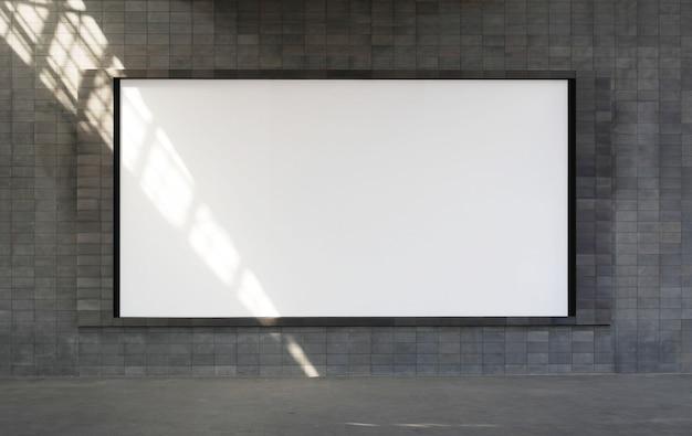Grote horizontale lege billboard frame mockup.