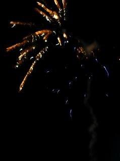 Grote kleurrijke vuurwerk, boem