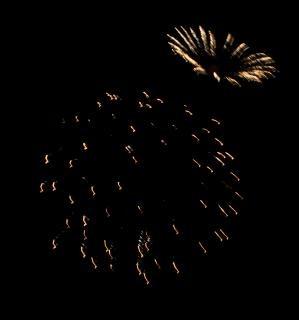 Grote kleurrijke vuurwerk, independenceday