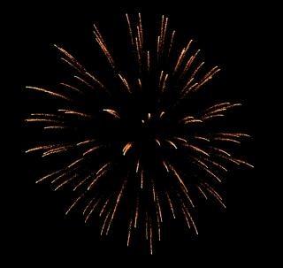 Grote kleurrijke vuurwerk, rook