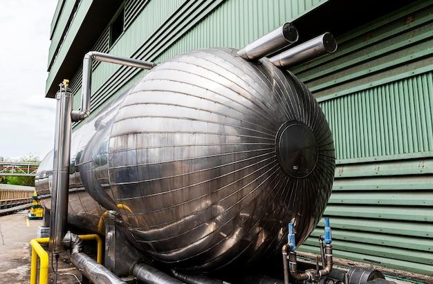 Grote kooldioxide chemische tank