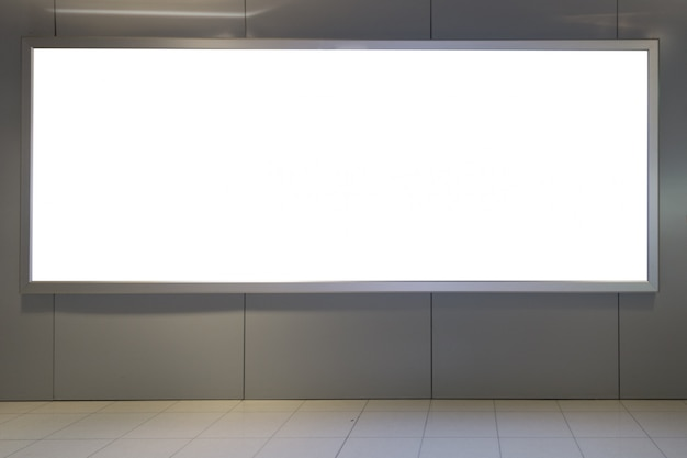 Grote lcd-reclame voor mockup-posterweergave