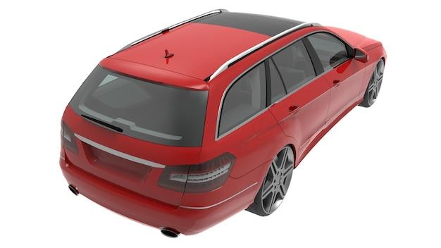 Grote rode familiebedrijfswagen met een sportief en tegelijkertijd comfortabel weggedrag