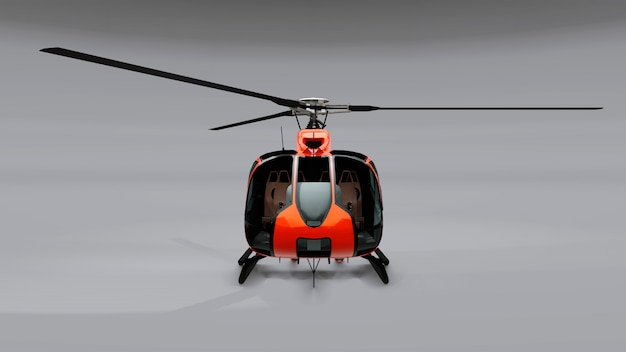 Grote rode helikopter