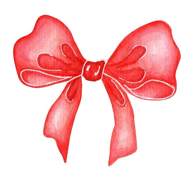 Grote rode strik lint geïsoleerd op een witte achtergrond decoratie van feestelijke evenementen en geschenken christmas