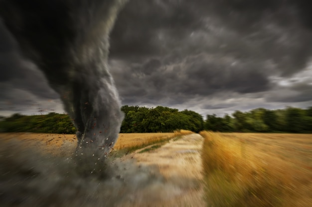 Grote tornado-ramp