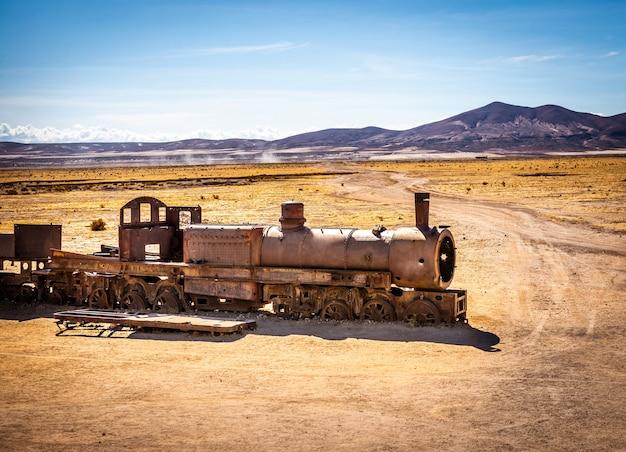 Grote trein kerkhof, uyuni, bolivia