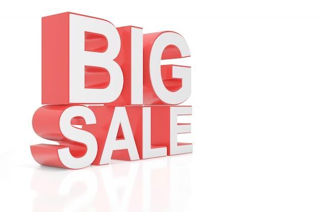 Grote verkoop voor website. 3d-rendering.