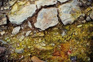 Ground textuur, bodem, gebarsten