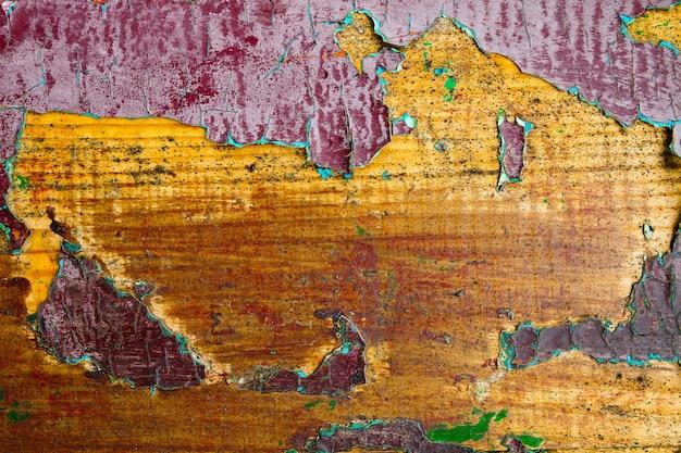 Grunge achtergrond close-up, kopieer ruimte. geschilderde houten achtergrond. houten korrelige textuur.