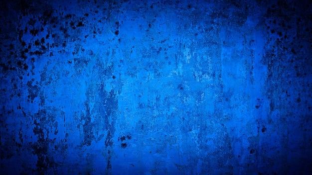 Grunge achtergrond van blauwe muurkleur
