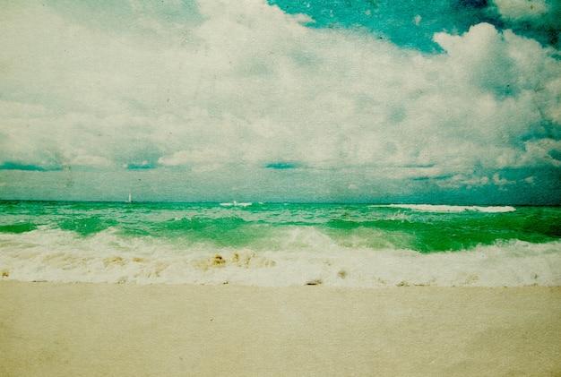Grunge afbeelding van tropisch strand