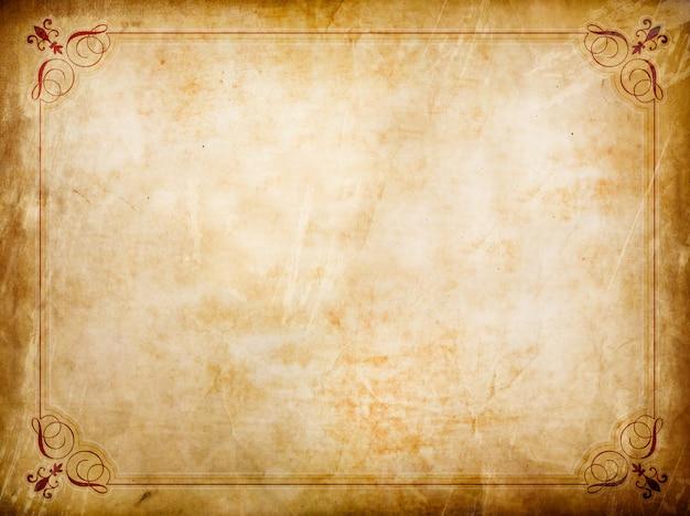 Grunge certificaat met vintage sierlijst