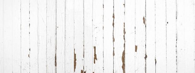 Grunge die wit verf oud hout pellen