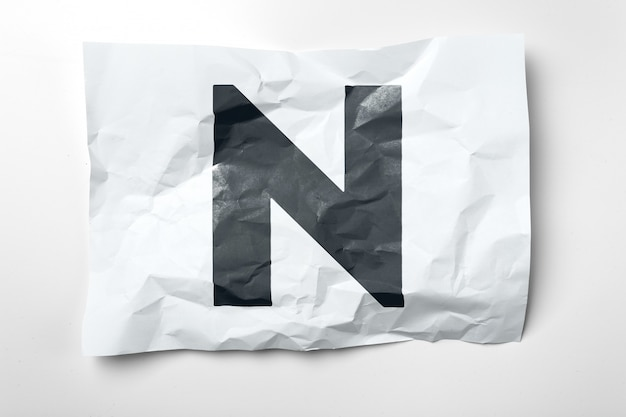 Grunge gerimpelde document brieven op wit