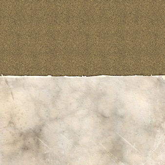 Grunge gescheurd papier op een linnen textuur