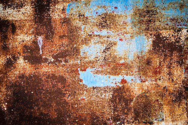Grunge ijzer roestige textuur en achtergrond