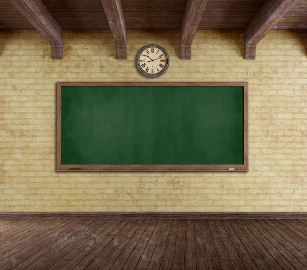 Grunge leeg klaslokaal