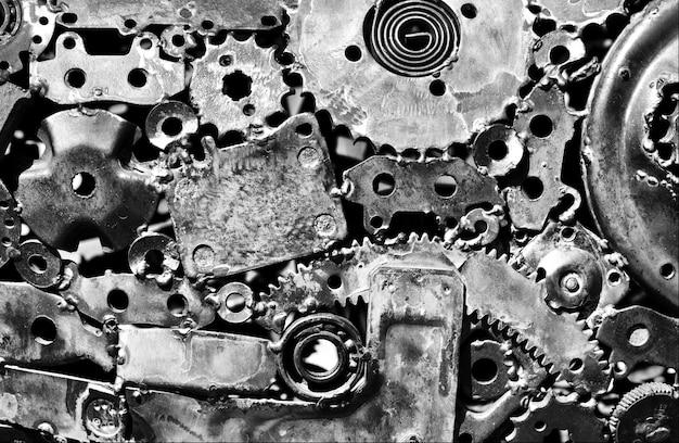 Grunge metalen muur. achtergrond of textuur