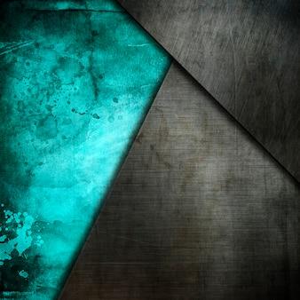 Grunge metalen platen op een oude aquarel achtergrond